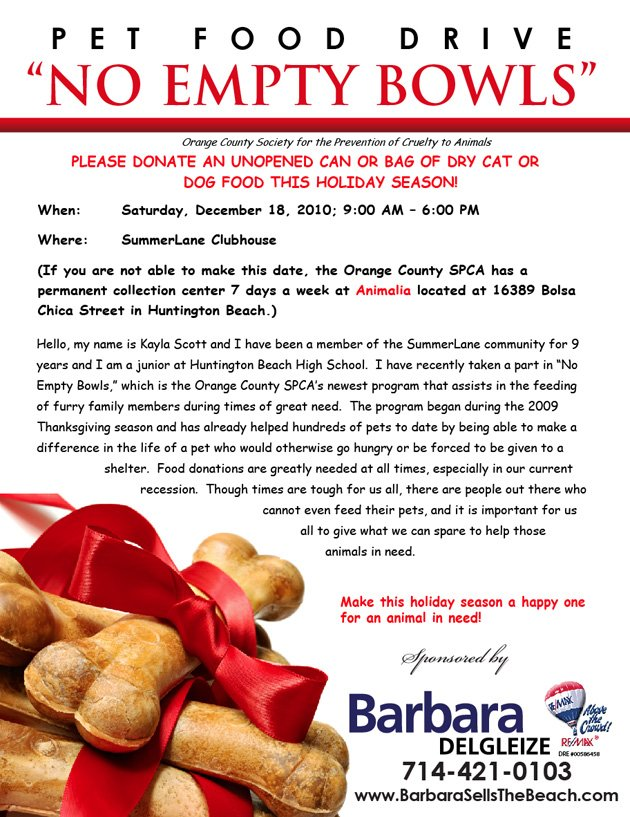 No Empty Bowls - Pet Food Drive