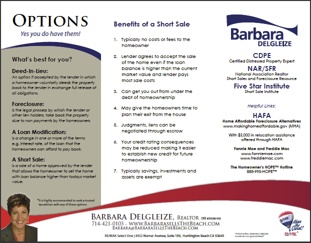 Barbara Delgleize - Short Sale & Distressed Homeowner Help