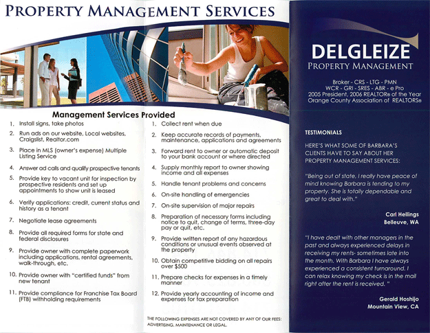 Property Management Brochure