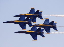 Blue Angels airplanes